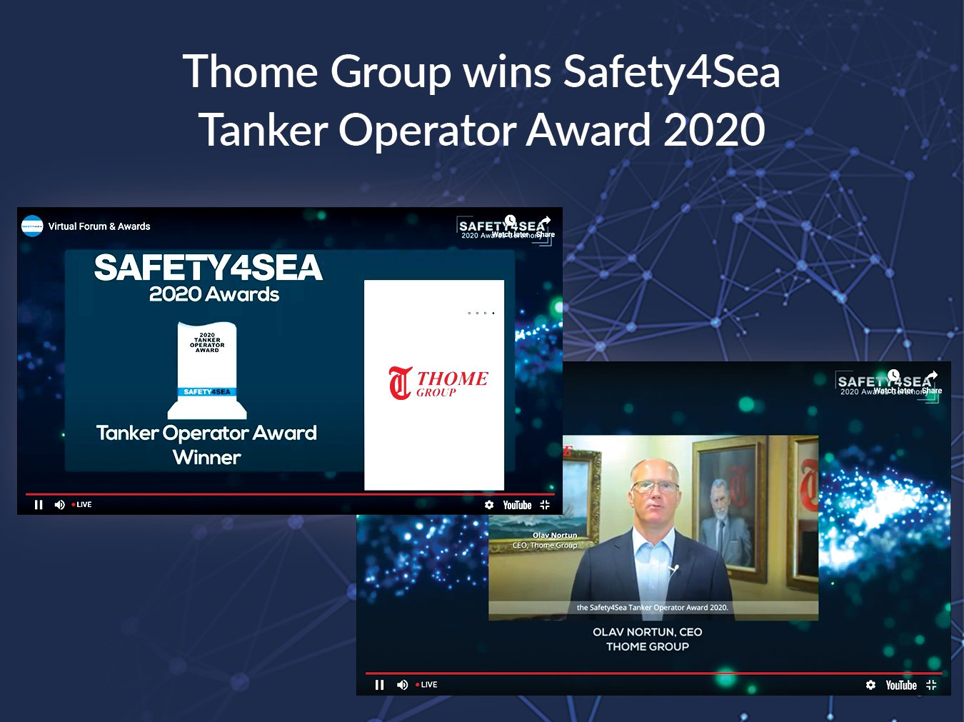 Thome Group Wins Safety4Sea Tanker Operator Award