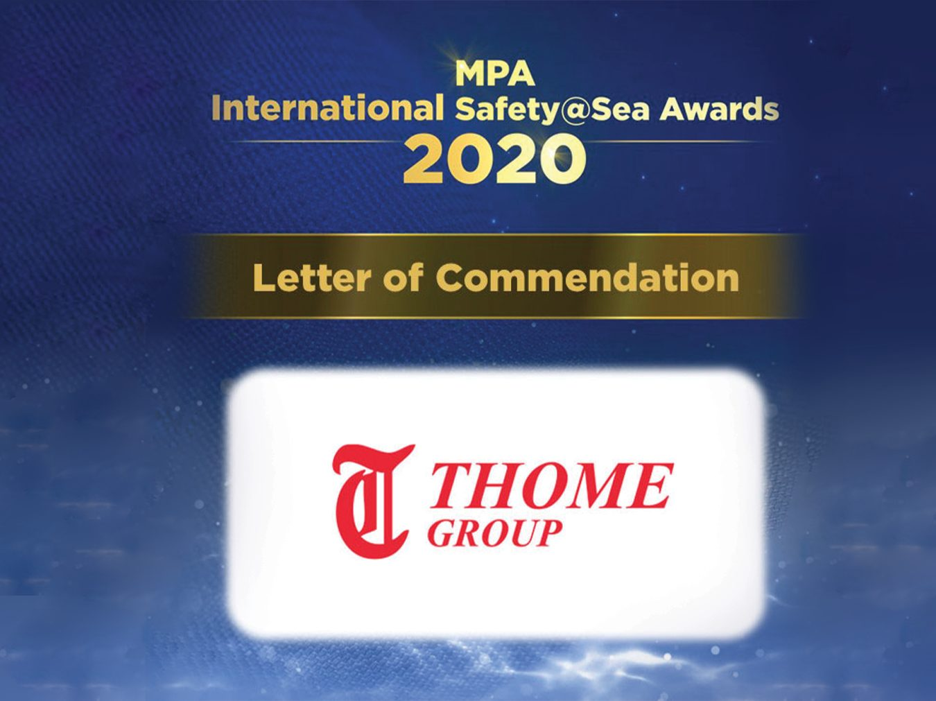 Thome Group Receives Letter of Commendation at MPA Singapore Awards