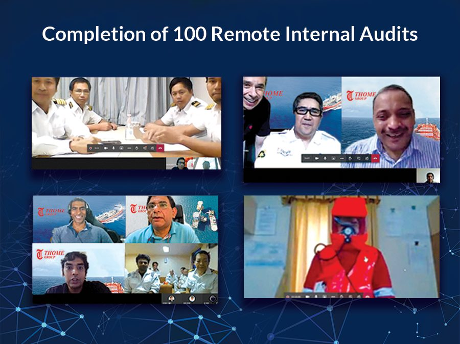 Completion of 100 Remote Internal Audits
