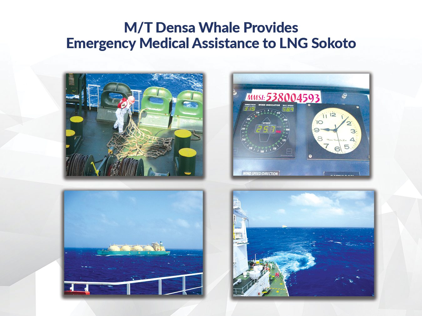 M/T Densa Whale Provides Emergency Medical Assistance to LNG Sokoto